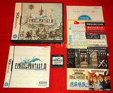 FINAL FANTASY III 3 Nintendo Ds Versione Giapponese ○○  USATO - D7