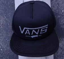 New Vans Skate Bigwig Foam Black Mens Snapback Hat One size Fit HTVNS-303