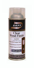 Deft CWF Spray Satin Interior Brushing Lacquer - Clear 12 oz - 01713