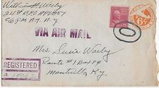 Vintage Postal History 1949 Germany to United States (Registered-Air Mail) BX