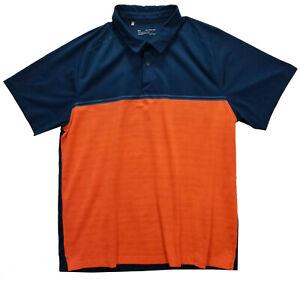 Under Armour Size 2XL/2TG/2EG Men Polo Blue Orange Heatgear T-Shirt