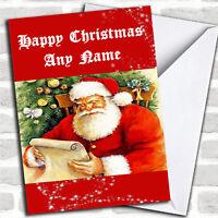 Santa Personalized Christmas Card