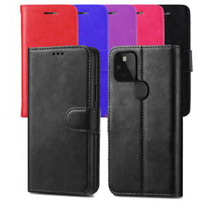 For Google Pixel 4/4 XL/ 4a 4G/ pixel 5/ pixel 5G Leather Flip Case Wallet Cover