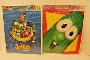 Vintage 1998 VeggieTales Big Larry the Cucumber Frame Tray Puzzle Jonah 2002