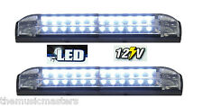 "2X White 6"" Car Boat RV 12 LED LIGHT STRIP Waterproof 12V Marine Accent Lighting"