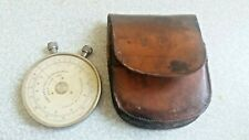 More details for vintage fowlers textile calculator short scale in brown leather case