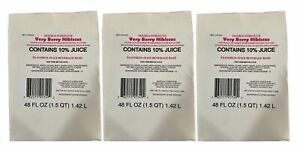Lot of 3 Sealed Starbucks Very Berry Hibiscus Refresher Juice Base BEST BY 1/21