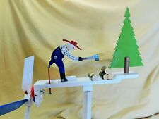windmill whirlygig of a man chopping wood. one of a kind. made in usa , in my sh
