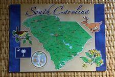 USA MAP Postcard : SOUTH CAROLINA