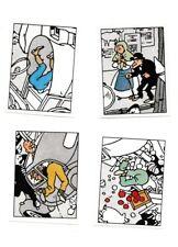 Herge Tintin Panini 1989 autocollant 4 im 135-136-137-138