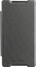 Roxfit Ultra Slim Black Book Cover for Xperia Z5 Folio Flip Case Black/Clear
