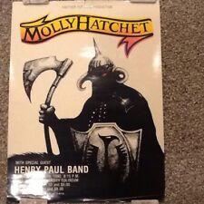 Rare 1980 Molly Hatchet Concert Tour Poster