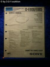 Sony Service Manual D E808 /E885 CD Player (#5842)