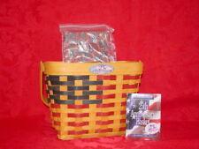 Longaberger 1998 25th Anniversary Basket Combo bonus gift! Handwoven Made In Usa