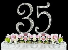 NEW Large Rhinestone  NUMBER (35) Cake Topper 35th Birthday Party Anniversary