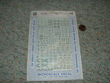 Microscale decals HO 87-206 Railroad Right of Way signs  F88