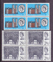 GB 900th Anni of Westminster Abbey (3d phos iss) MNH blocks of four SG687p SG688