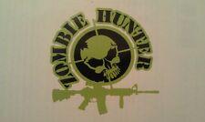 "Zombie Hunter Decal 4""x 4"" A R   Zombies Car Truck Vinyl Sticker AR15"