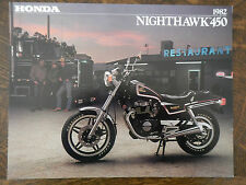 1982 HONDA CB450SC NIGHTHAWK 450 NOS OEM DEALER'S SALES BROCHURE CB SC 82