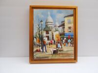 """Paris Beautiful Vintage painting framed on canvas by Chacon 12 1/4"""" x 10,5"""""""