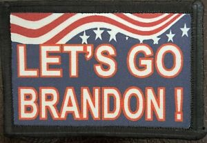 Let's Go Brandon  Morale Patch Tactical Military Army Funny Biden FJB