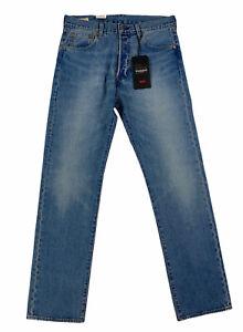 NEW Levi's Strauss 501 '93 Straight Premium Medium Blue Stretch Mens Denim Jeans