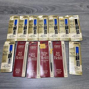 Huge Lot Cross Selectip, Ball Point Pen Refills New Old Stock Blue Black