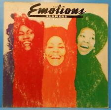 THE EMOTIONS FLOWERS LP 1977 ORIGINAL PRESS SOUL FUNK NICE CONDITION! VG/VG!!A
