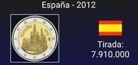 VENDO MONEDA DE 2 EUROS CONMEMORATIVA  ESPAÑA  2012.  Catedral de Burgos.S/C