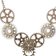 Vintage Steampunk Jewelry Machinery Gear Pendant Necklace Choker Chain Gear