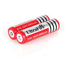 2PCS UltraFire 18650 Rechargeable Li-Ion Battery 3.7V 4800mAh + 1x EU/US Charger