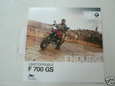FN641-BROCHURE BMW F 700 GS UNSTOPPABLE DUTCH 8 PAGES 2013 BIKE MOTO