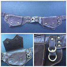 Leather Pocket Belt Bag / Utility / Steampunk / Festival / Hip / Burning Man