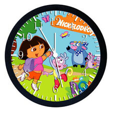 Dora the Explorer Black Frame Wall Clock Nice For Decor or Gifts W18