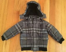 Burberry Boys Toddlers Kids Checkered Winter Puffer Jacket Coat. Blue. Size 4.