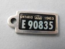 ONTARIO WAR AMPS CANADA 1965 e90835 TAG KEY CHAIN RETURN MINI LICENSE PLATE