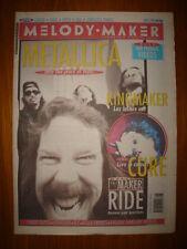 MELODY MAKER 1992 MAY 2 METALLICA KINGMAKER CURE VERVE