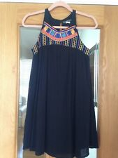 Ladies Black Crinkle Dress By Billabong Size Small surf brand Boho style