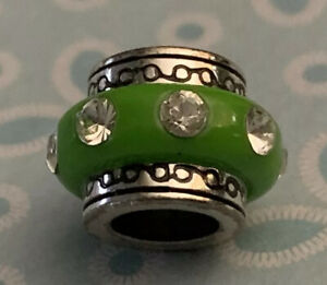 Brighton DAZZLE Circle  Light GREEN Rows Crystals ABC Bead or Spacer