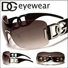 DG Eyewear Womens Ladies New Designer Oversized Shades Brown Fashion Sunglasses