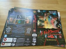 A NIGHTMARE ON ELM STREET 4 - PROMOTIONAL - SLEEVE ONLY - VHS - CBS/FOX