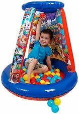 PAW PATROL INFLATABLE BALL PIT PLAYHOUSE + 20 BALLS - BOYS INDOOR KIDS TOY GIFT