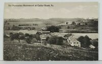 Carley Brook Pa Wayne County The Penwarden Homestead Bird's Eye View Postcard N6