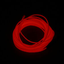 1-5m Flash Flexible Neon LED Light Glow El Strip Tube Wire Rope Party Light P5 Red 5m With Controller