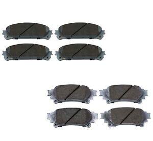 Beck-Arnley Ceramic Front Rear Brake Pads Kit For RX350 RX450h Highlander Sienna