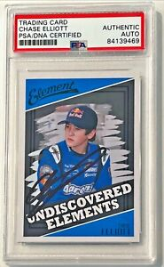 2011 Press Pass Wheels Element Chase Elliott Signed Rookie RC Card #99 PSA/DNA