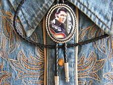 NEW ELVIS PRESLEY BOLO BOOTLACE TIE SILVER METAL LEATHER CORD WESTERN ROCKABILLY