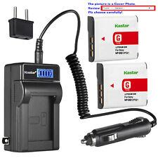 Kastar Battery LCD AC Charger for Sony NP-BG1 NPFG1 NPBG1 NPFG1 Typr G Battery