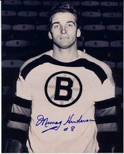 AUTOGRAPHED MURRAY HENDERSON BOSTON BRUINS PHOTO DECEASED