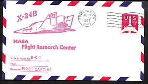 a120 RAUMFAHRT/ USA NASA Flight Center X-24B Beleg aus 1973